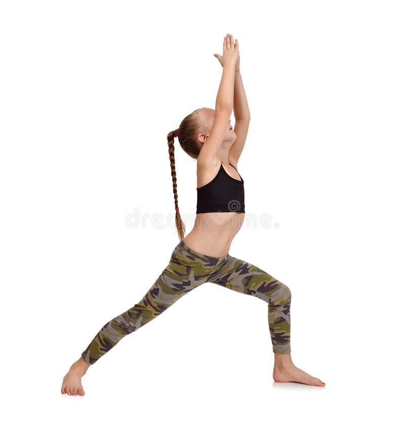 De yoga van kinderen stock afbeeldingen