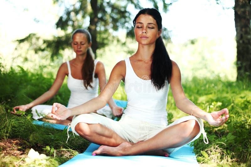 De yoga van Lotus royalty-vrije stock fotografie