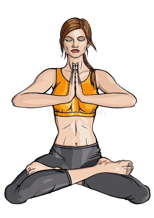 De Yoga van Lotus royalty-vrije illustratie