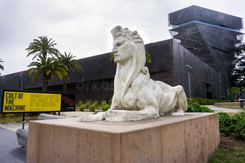 De Young Museum in Golden Gate Park stockbild