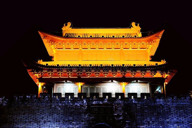 De Yueyangtoren werd gebouwd in ADVERTENTIE 220, en is één van de vier beroemde torens in China royalty-vrije stock afbeelding