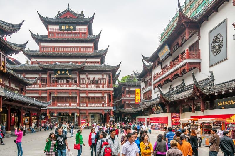 In De Yuyuan-Complexe Tuin Redactionele Fotografie