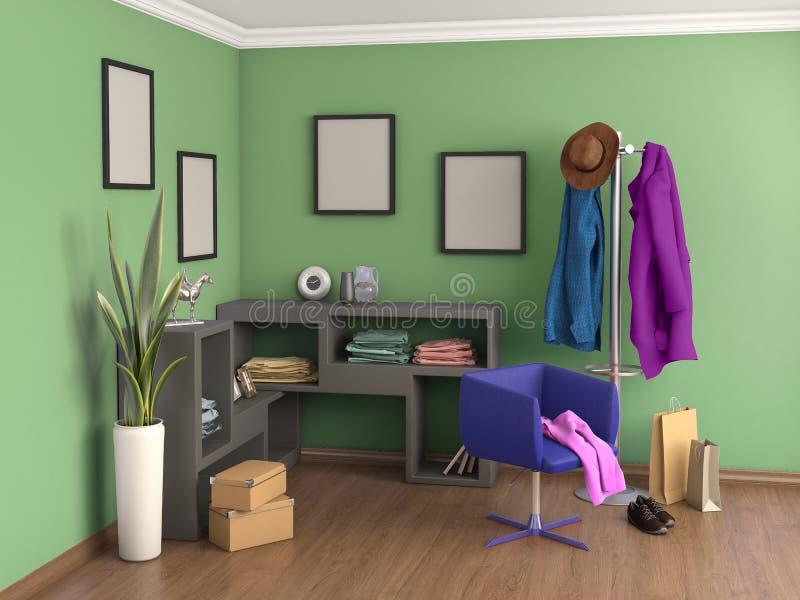 De Zaal is groen, stock illustratie