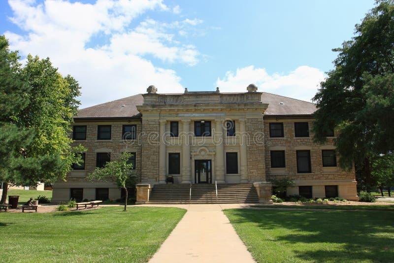 De Zaal van Carnegie - Universiteit Washburn stock afbeeldingen