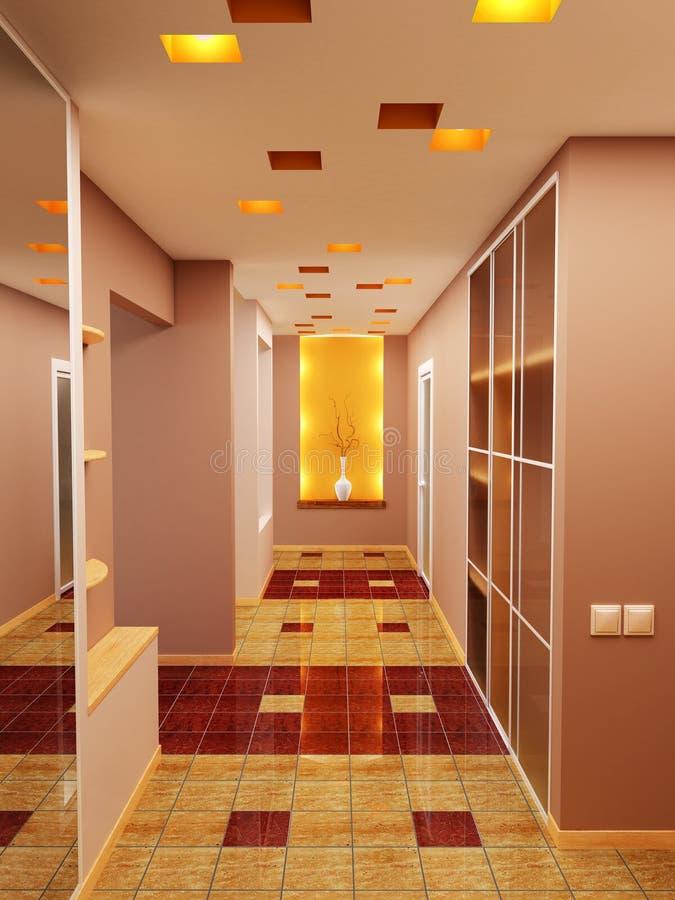 De zaal van de flat stock illustratie