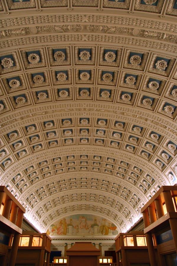 De Zaal van de lezing in de Bibliotheek van Congres stock foto