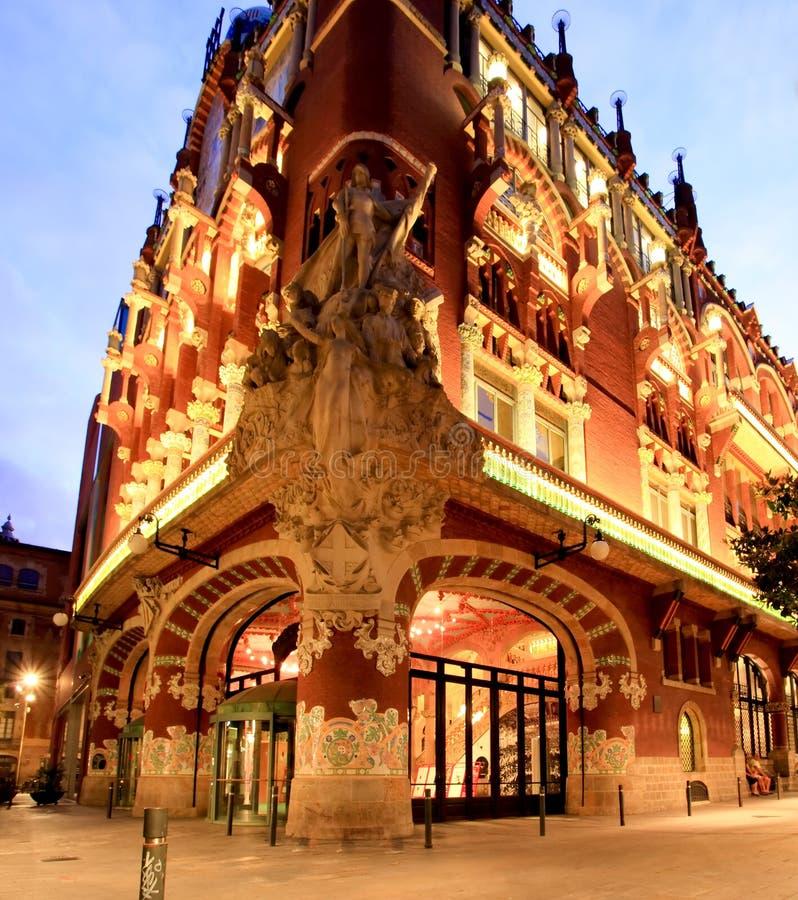 De zaal van de Muziek Catalana in Barcelona royalty-vrije stock afbeeldingen