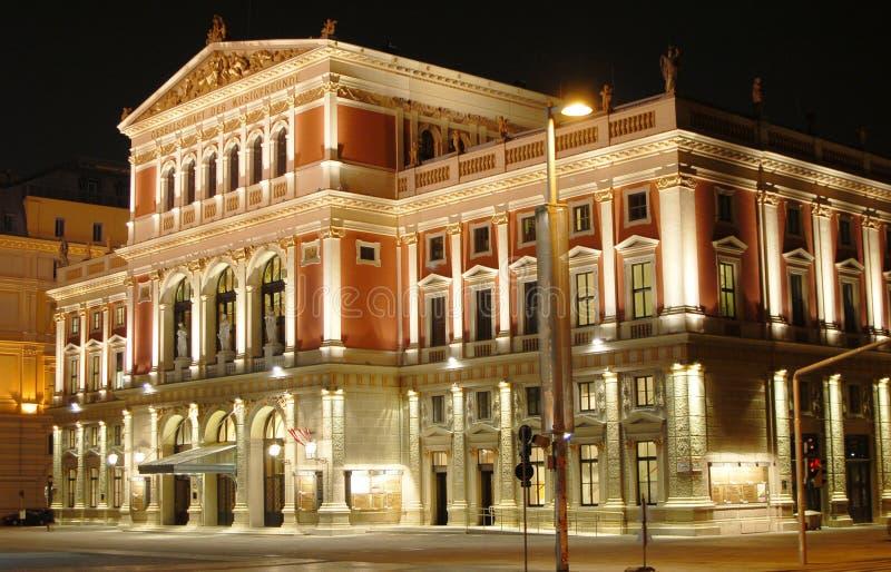 De Zaal van de Muziek van Wenen stock fotografie