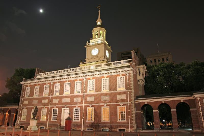 De zaal van de onafhankelijkheid in Philadelphia stock afbeelding