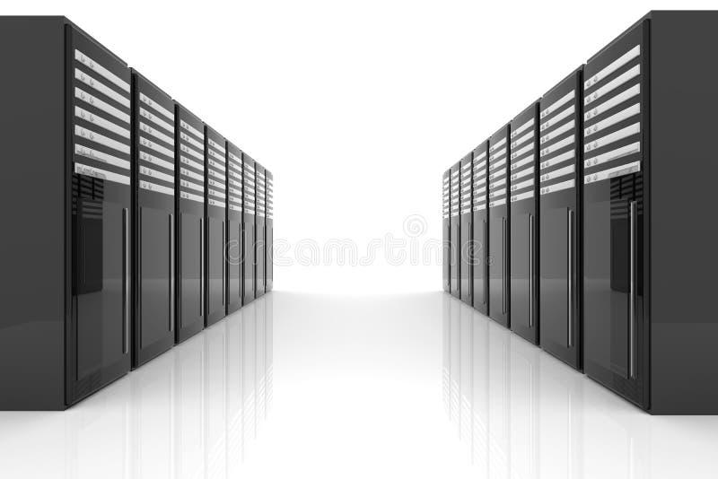 De Zaal van de server stock illustratie