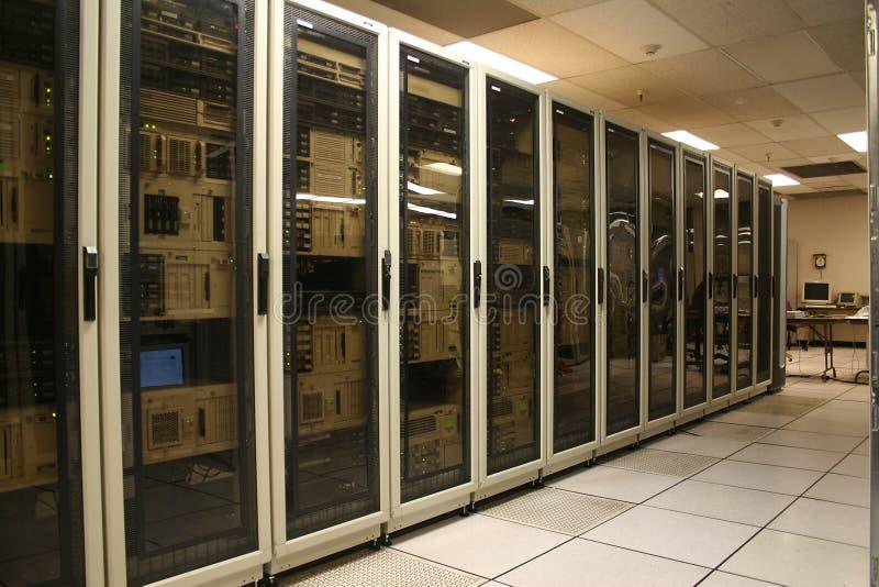 De Zaal van de Server van de computer stock fotografie