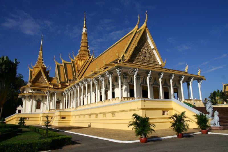 De zaal van de troon in Phnom Penh royalty-vrije stock foto
