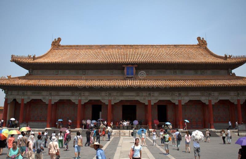 De Zaal van het Bewaren van Harmonie in de Verboden Stad, Peking, C royalty-vrije stock fotografie