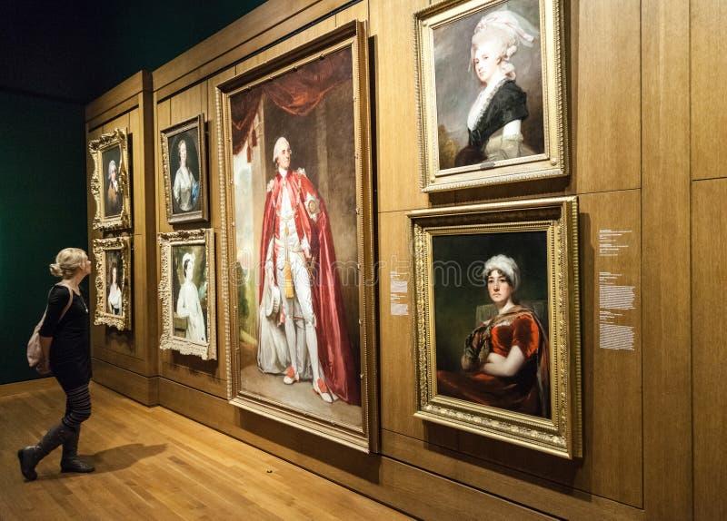 De Zaal van het de Beeldende kunstenmuseum van Montreal stock foto