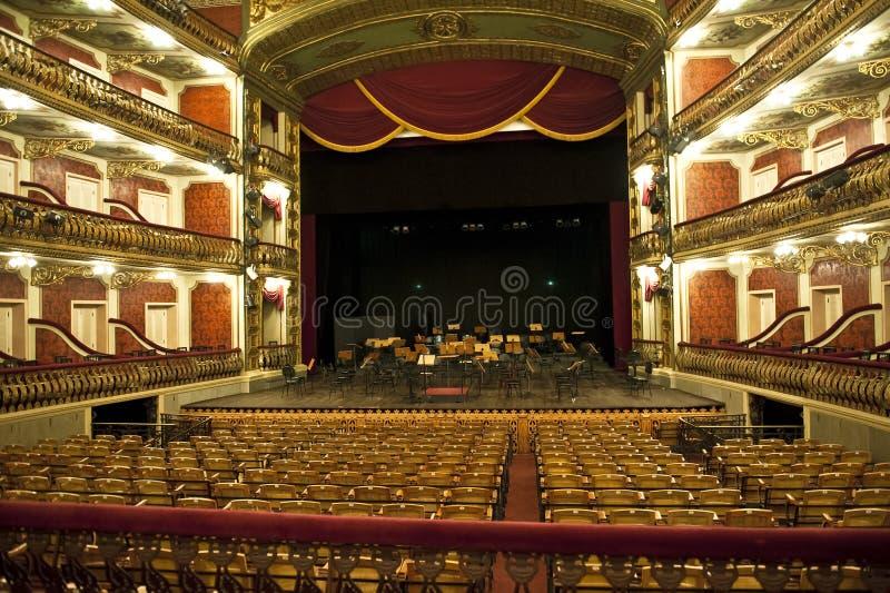 De Zaal van het Huis van de Opera van Manaus royalty-vrije stock fotografie