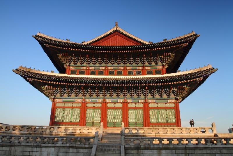De Zaal van het Paleis van Changdeokgung stock afbeelding