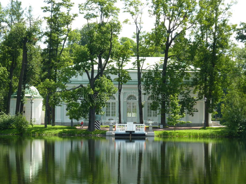 De Zaal van het paviljoen op het Eiland in Tsarskoye Selo royalty-vrije stock afbeeldingen