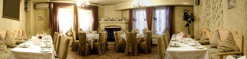De zaal van het restaurant royalty-vrije stock afbeeldingen