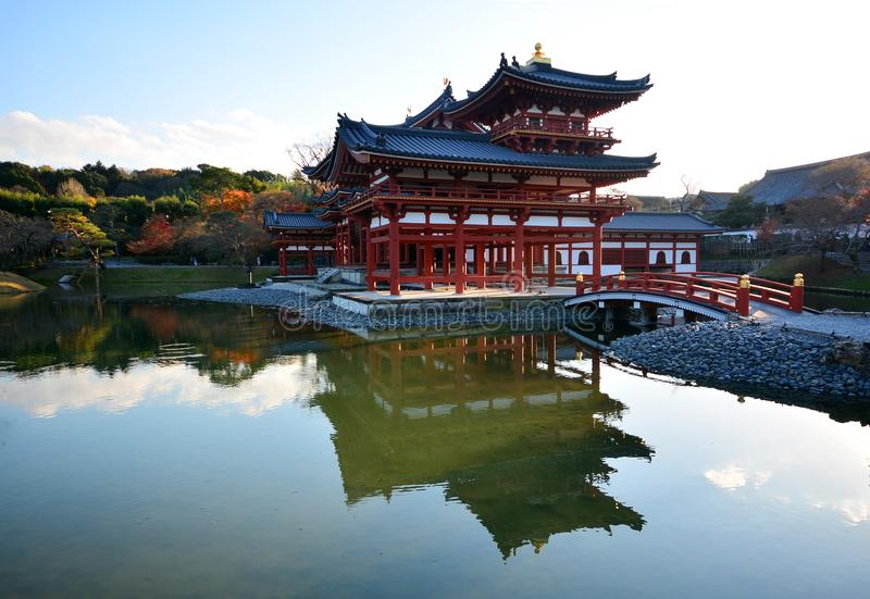 De Zaal van Phoenix van byodo-in Tempel in Uji-stad dichtbij Kyoto royalty-vrije stock foto's