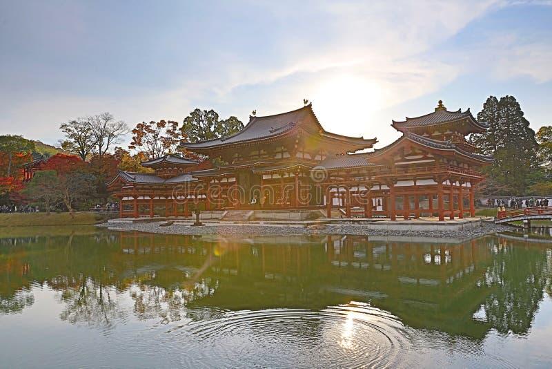 De Zaal van Phoenix van byodo-in Tempel in Kyoto, Japan stock afbeelding