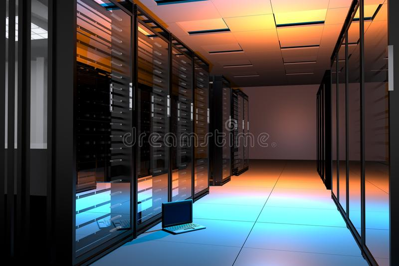 De Zaal van servers royalty-vrije illustratie