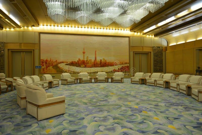 De Zaal van Shanghai in de Grote zaal van de mensen in Peking, China stock foto's