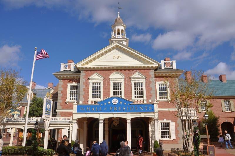 De zaal van Voorzitters in de Wereld Orlando van Disney royalty-vrije stock afbeelding