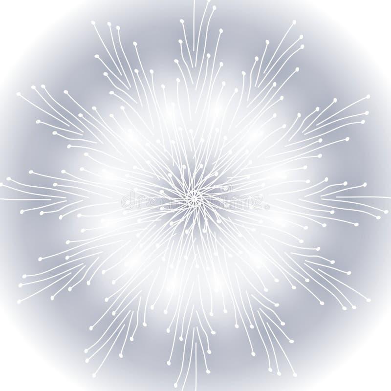 De zachte Achtergrond van de Sneeuwvlok vector illustratie
