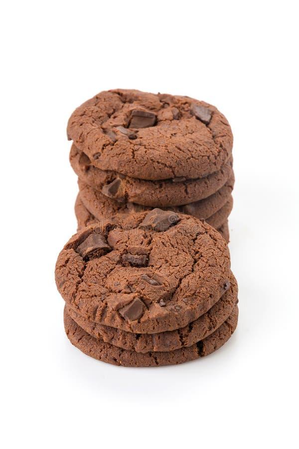 De zachte donkere koekjes van de chocoladebrownie royalty-vrije stock foto's