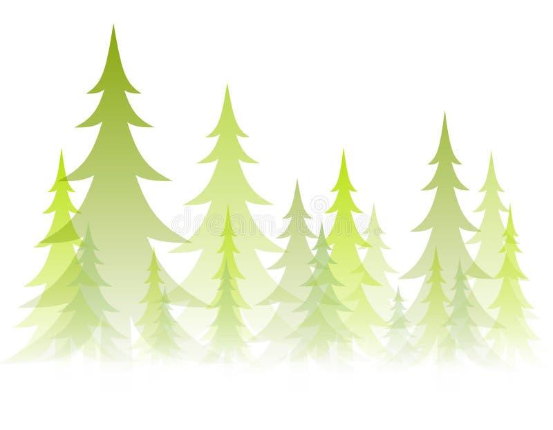 De zachte Ondoorzichtige Bomen van de Winter royalty-vrije illustratie