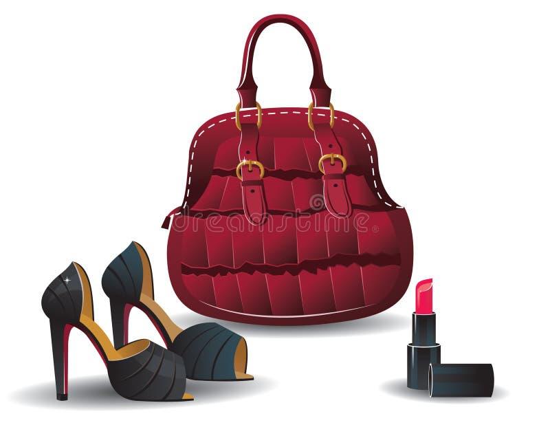 De zak en de schoenen van de manier vector illustratie