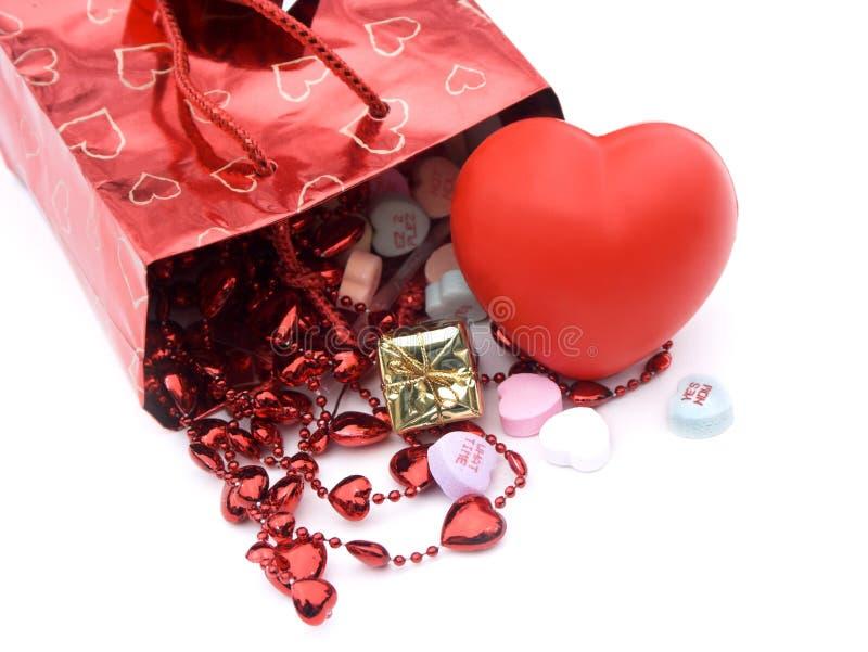 De zak van de gift, stelt 5 voor stock foto
