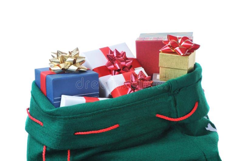 De Zak van de kerstman royalty-vrije stock foto