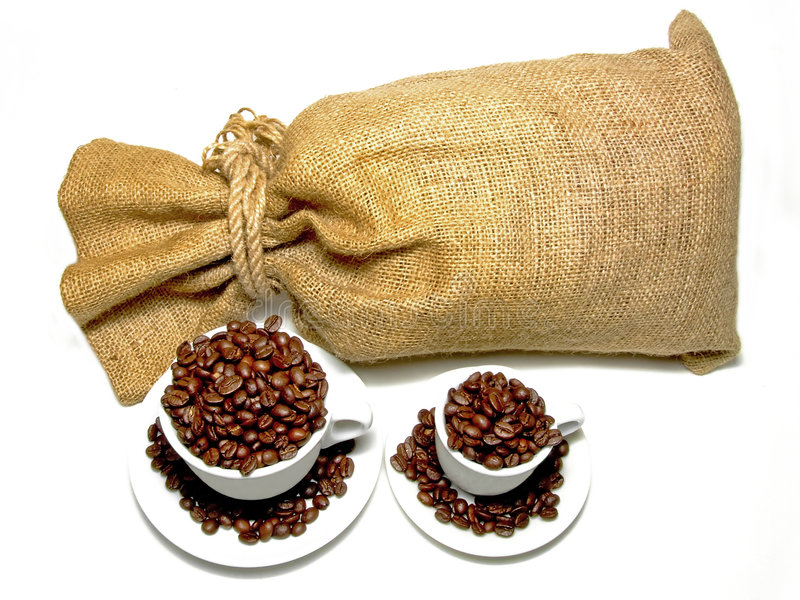 De zak van de koffie royalty-vrije stock foto