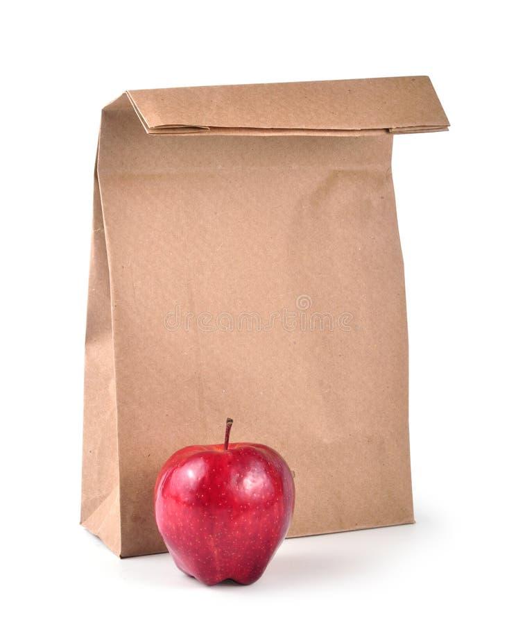 De zak van de lunch - weg royalty-vrije stock fotografie
