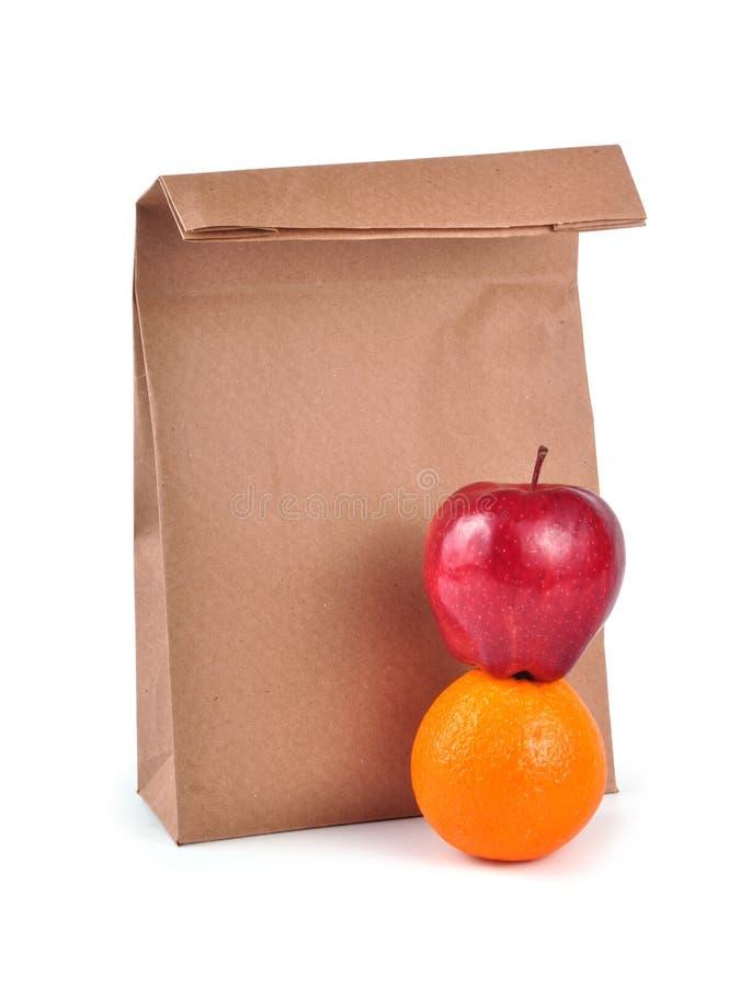 De zak van de lunch - weg stock fotografie