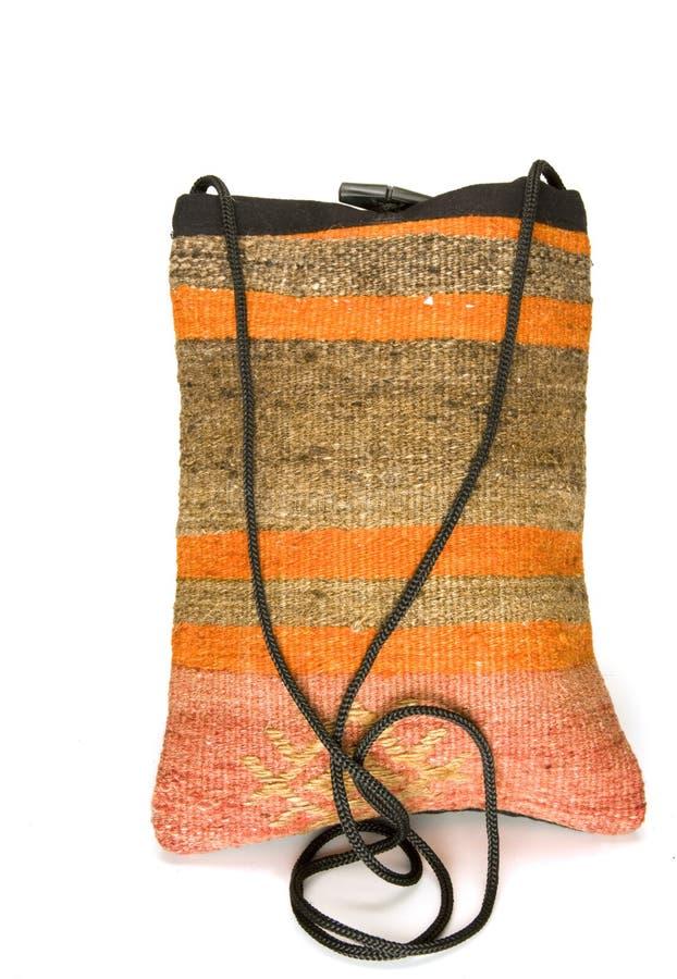 De zak van de schouder die van de deken Turkije wordt gemaakt van het kilimtapijtwerk stock foto's