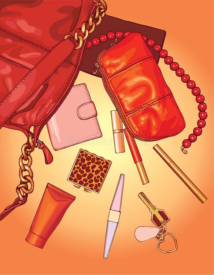 De zak van de vrouw stock illustratie