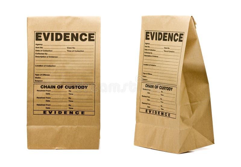 De zak van het bewijsmateriaal stock foto