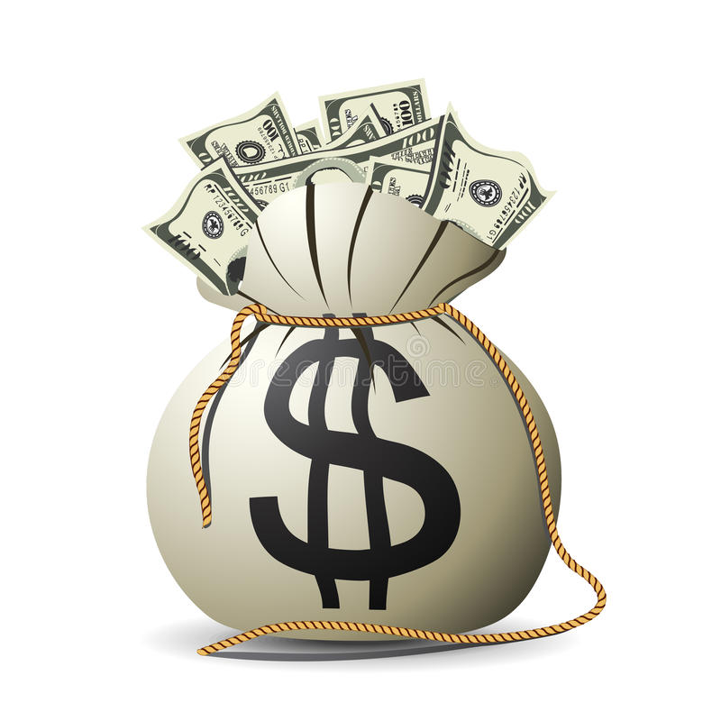 De zak van het geld stock illustratie
