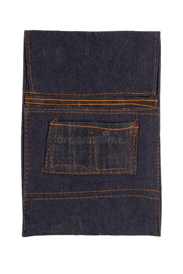 De Zak van het jeanshulpmiddel zonder riem stock foto