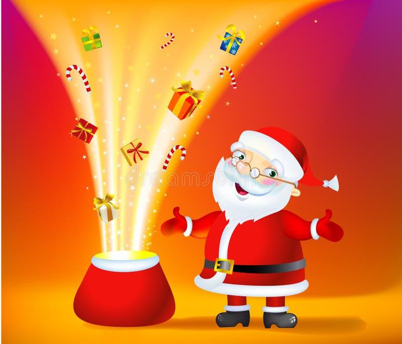 De Zak van het Mirakel van Kerstmis stock illustratie