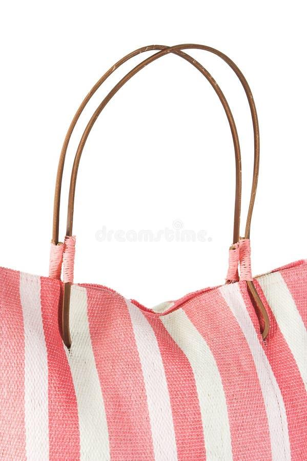 De zak van het strand met handvatten stock afbeelding