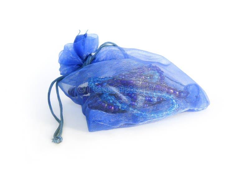 De zak van juwelen stock afbeelding
