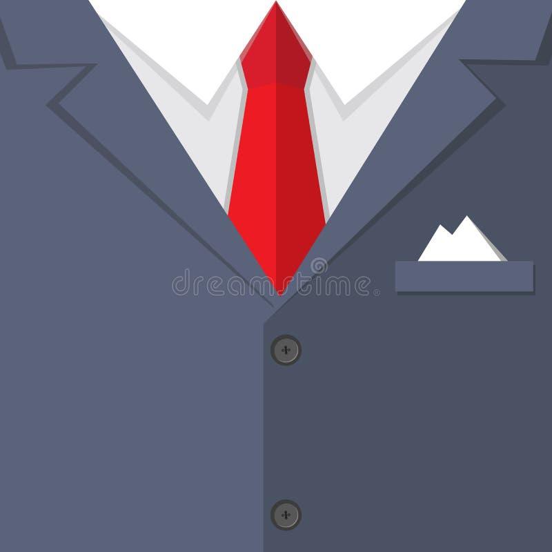 De zaken bemannen kostuum BG stock illustratie
