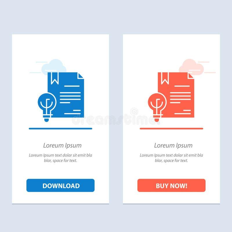De zaken, Copyright, Digitaal, de Uitvinding, de Wets Blauwe en Rode Download en kopen nu de Kaartmalplaatje van Webwidget royalty-vrije illustratie