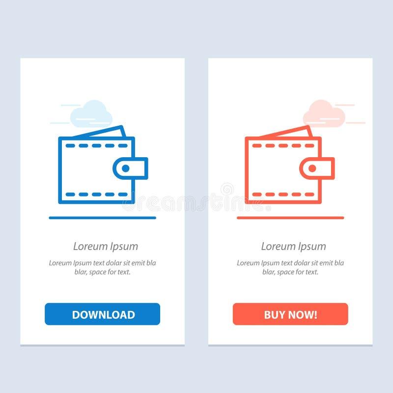 De zaken, de Financiën, de Interface, de Gebruiker, de Portefeuille Blauwe en Rode Download en kopen nu de Kaartmalplaatje van We vector illustratie