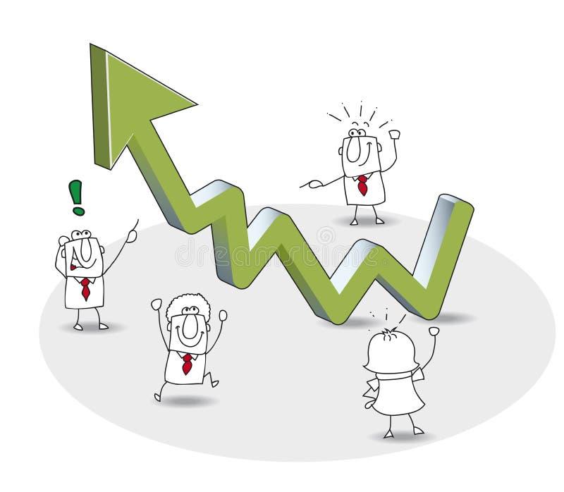 De zaken groeien vector illustratie