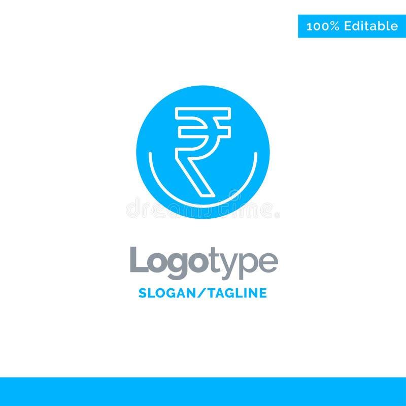 De zaken, Munt, Financiën, Indiër, Inr, Roepie, wisselen Blauw Stevig Logo Template uit Plaats voor Tagline vector illustratie