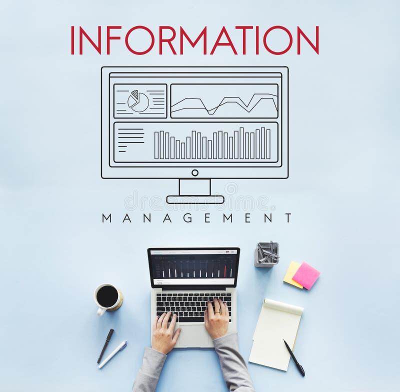 De Zaken van Analytics van informatiegegevens vloeien Concept voort stock foto